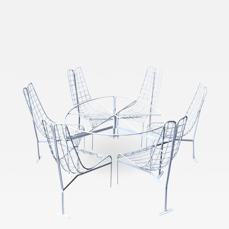 Vladimir Kagan Vladimir Kagan Capricorn Iron Table with six Capricorn chairs