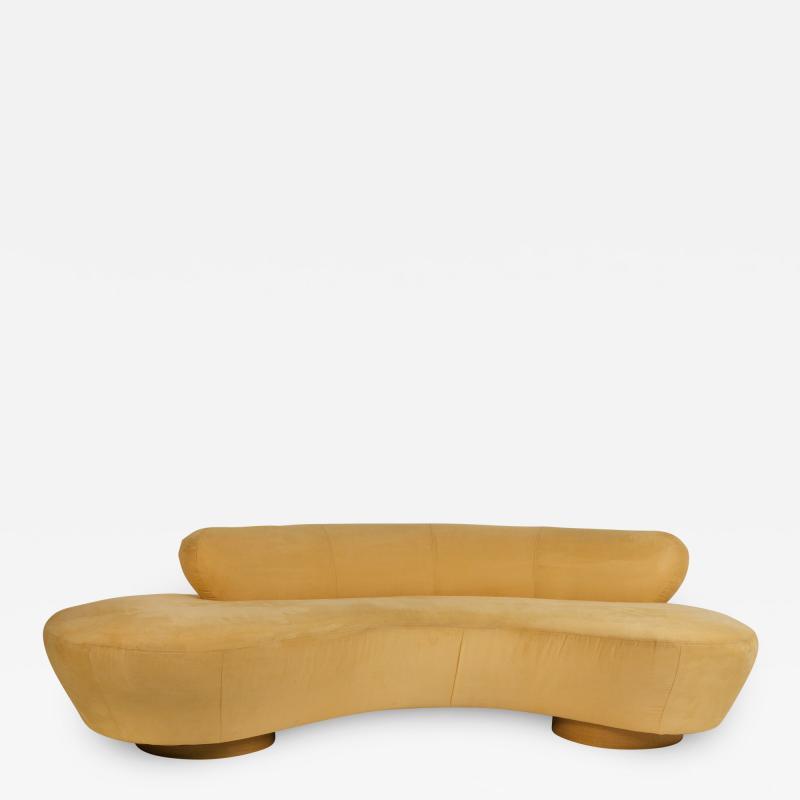 Vladimir Kagan Vladimir Kagan Cloud Sofa for Directional with Oak Pedestal Base