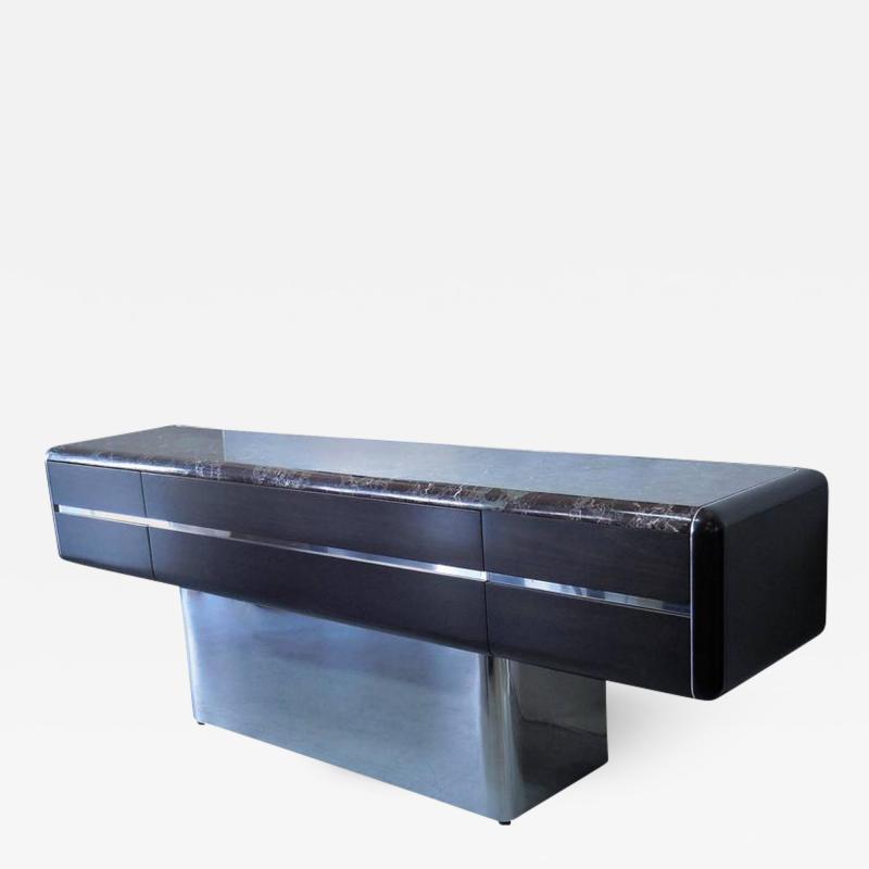Vladimir Kagan Vladimir Kagan Console Credenza with Marble Top and Polished Base