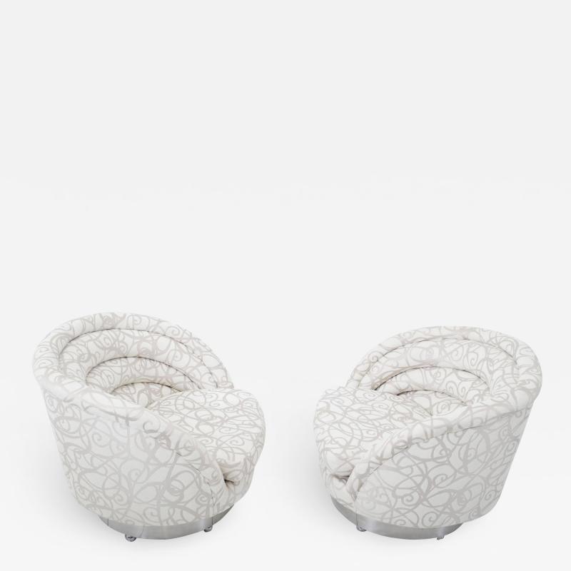 Vladimir Kagan Vladimir Kagan Crescent Swivel Lounge Chairs