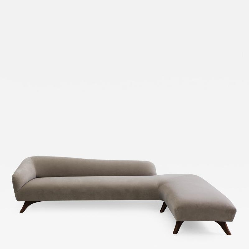 Vladimir Kagan Vladimir Kagan L Shaped Swan Back Sofa USA c 1955