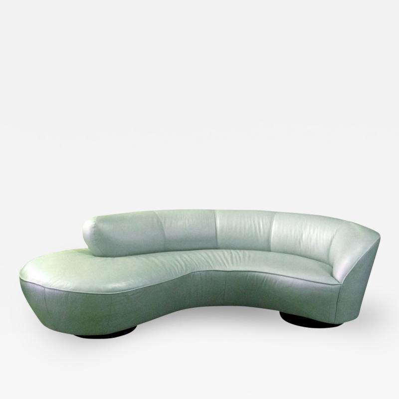 Vladimir Kagan Vladimir Kagan Serpentine Sofa Ottoman Upholstered In Edelman Leather