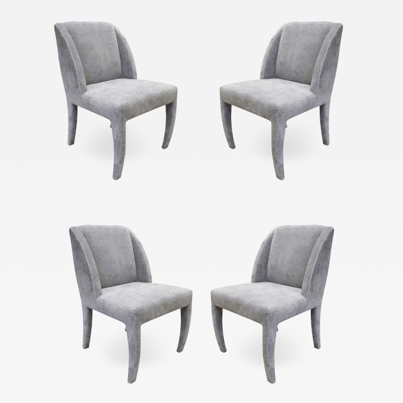 Vladimir Kagan Vladimir Kagan Set of 4 Sculptural Dining Game Chairs 1970s Signed