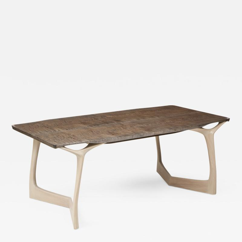 Vladimir Krasnogorov Extendable Dining Table by Vladimir Krasnogorov for Thomas W Newman