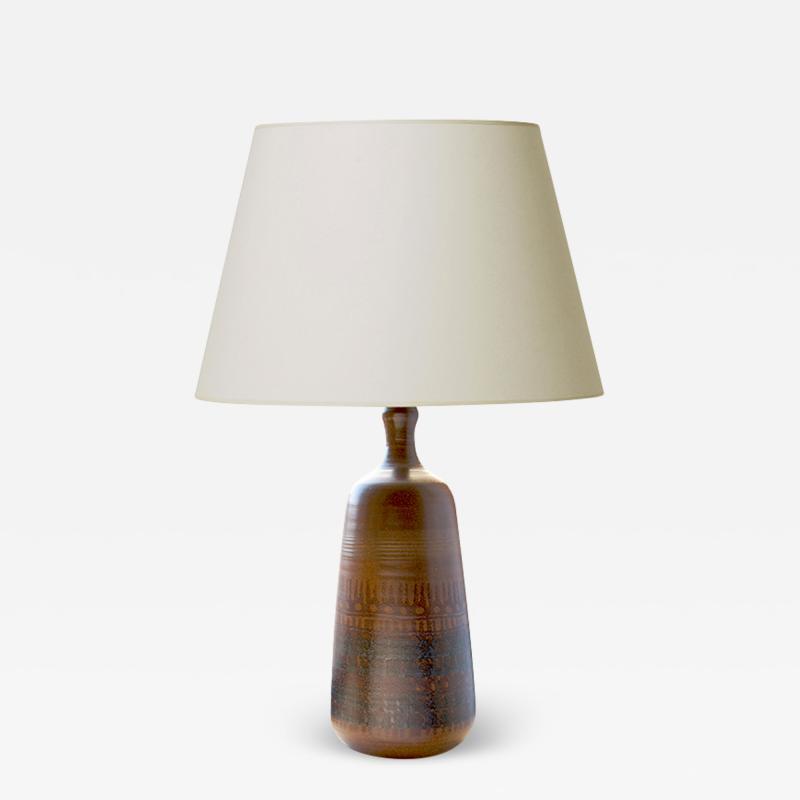 Voldemar Volkoff Table Lamp by Vallauris Artist Voldemar Volkoff