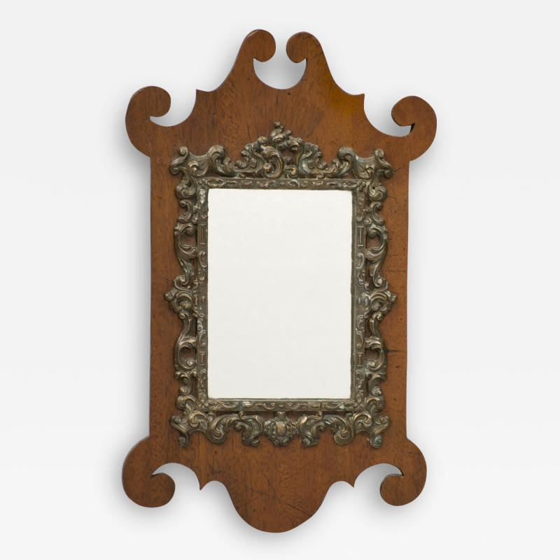 W Badger Antique Miniature Chippendale Mirror Circa 1875