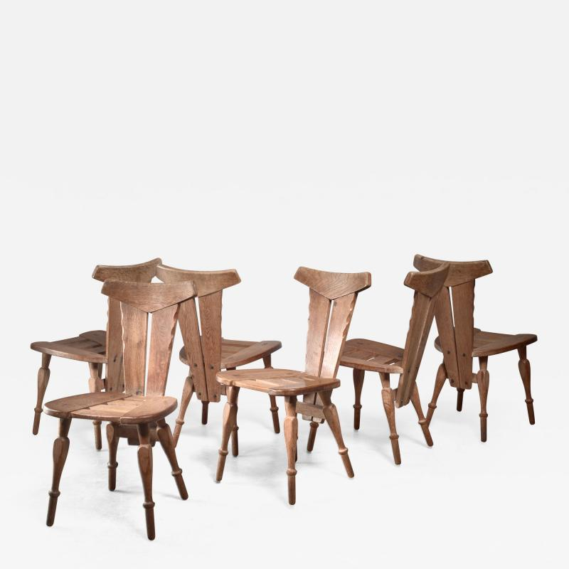 W Kuyper W Kuyper set of 6 Arts Crafts chairs