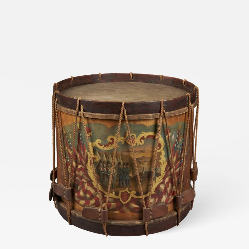 W S Tomkins Painted Ceremonial Parade Drum