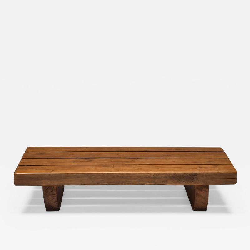 Wabi Sabi Solid Wood Coffee Table 1960s