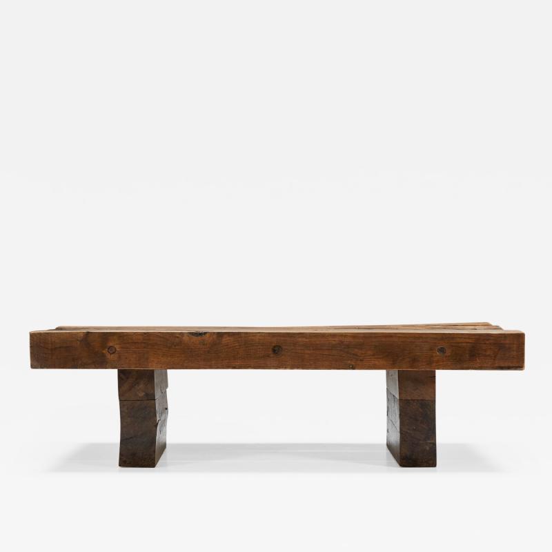 Wabi Sabi Wooden Coffee Table 1960s