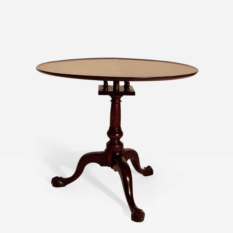Walnut Chippendale Tea Table
