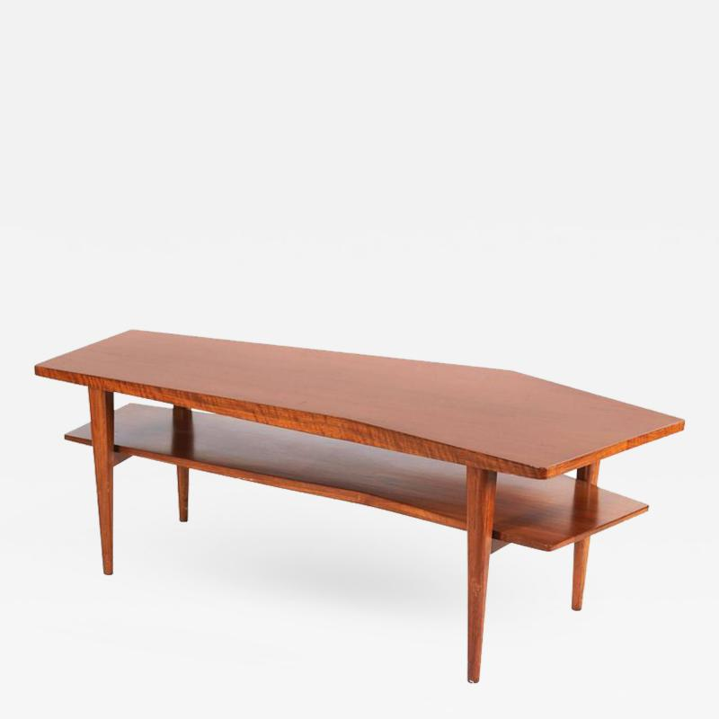 Walnut Coffee Table in the style of Bertha Schaefer for Singer Sons 1950