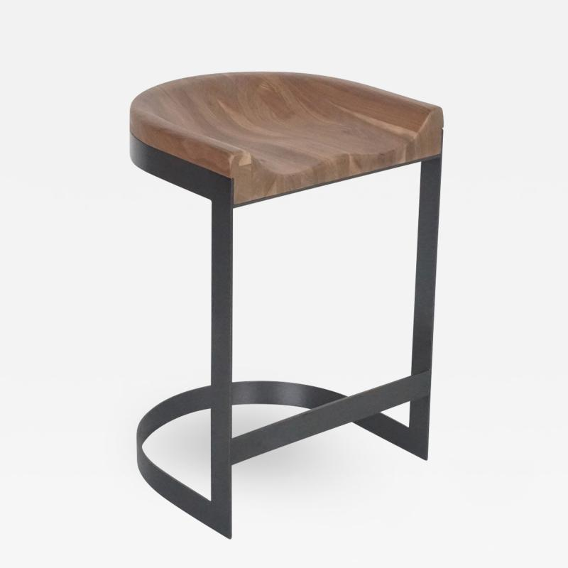 Amazing Walnut Saddle Stool Oil Rubbed Bronze Gmtry Best Dining Table And Chair Ideas Images Gmtryco