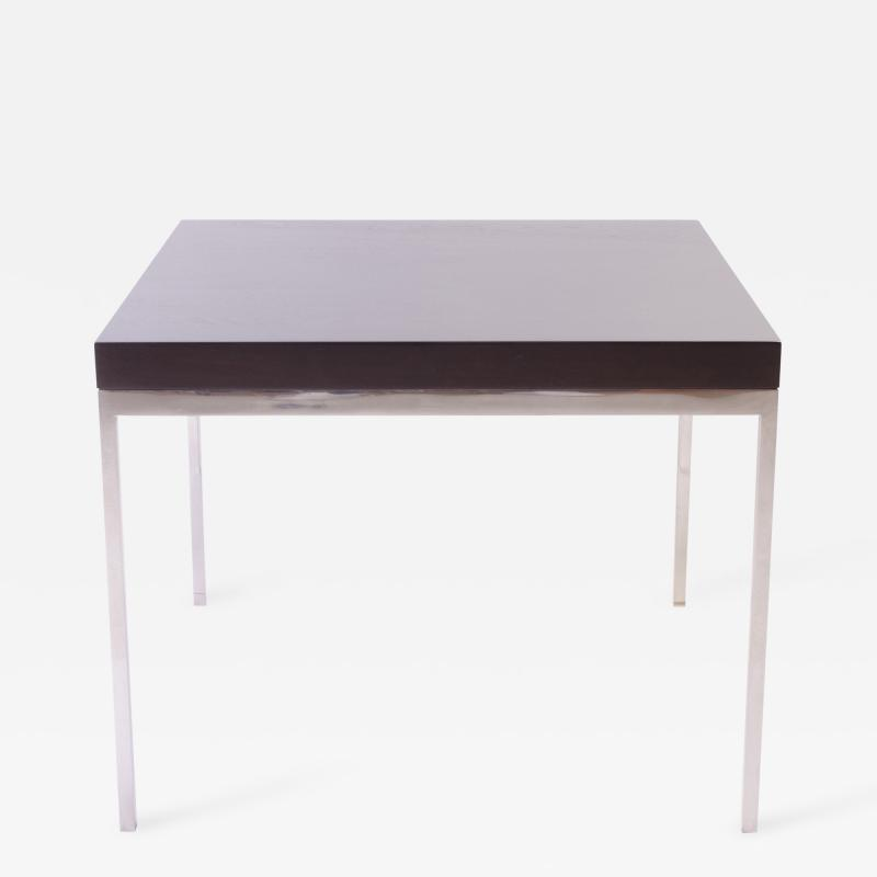 Walnut and Chrome Modernist Side Table