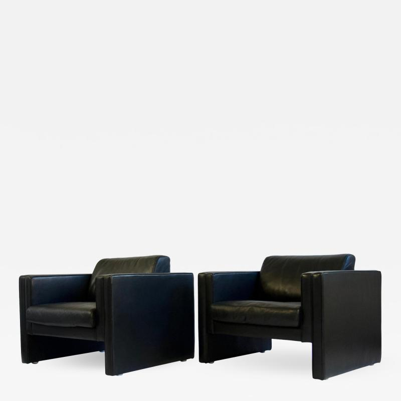 Walter Knoll Leather Lounge Chairs by Walter Knoll