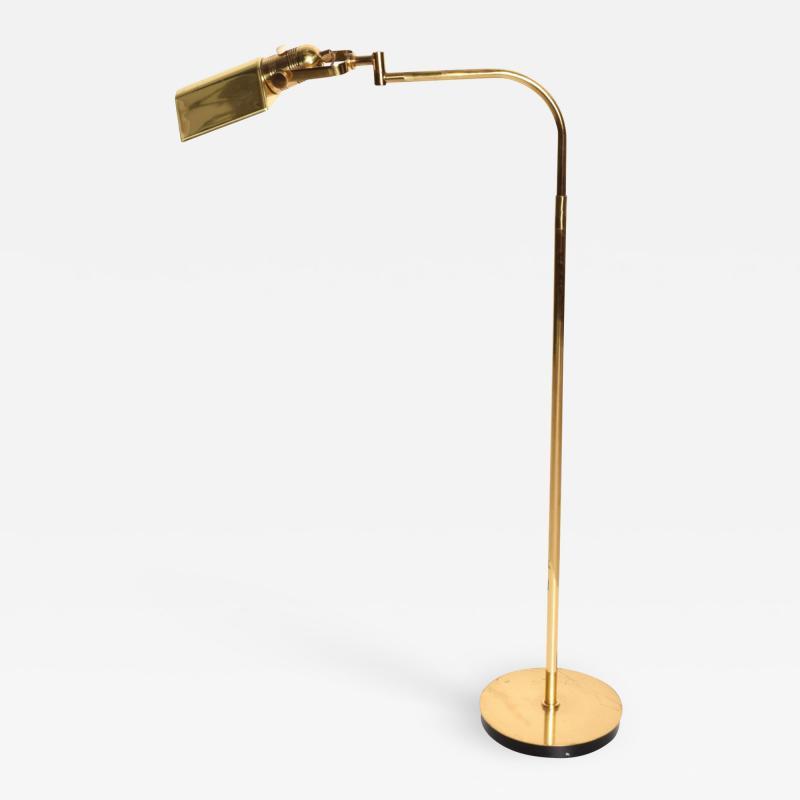 Walter Von Nessen NESSEN Task Floor Lamp in Brass Pharmacy Light Pivot Reading 1980s Bronx