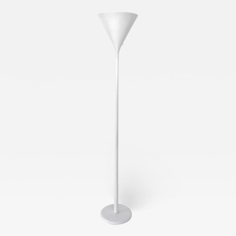 Walter Von Nessen Walter Von Nessen Lacquered White Torchiere Floor Lamp