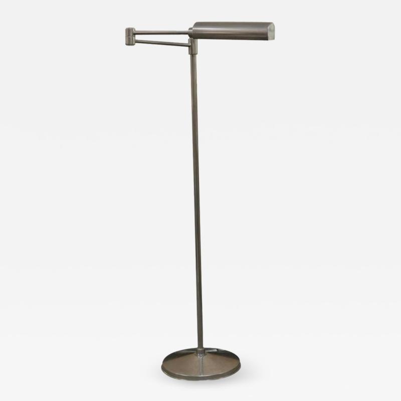 Walter Von Nessen Walter Von Nessen Swing Arm Nickel Floor Lamp