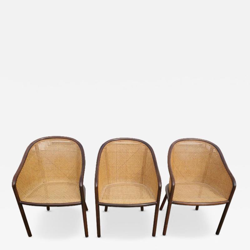 Ward Bennett Set of Three Ward Bennett Chairs for Brickel