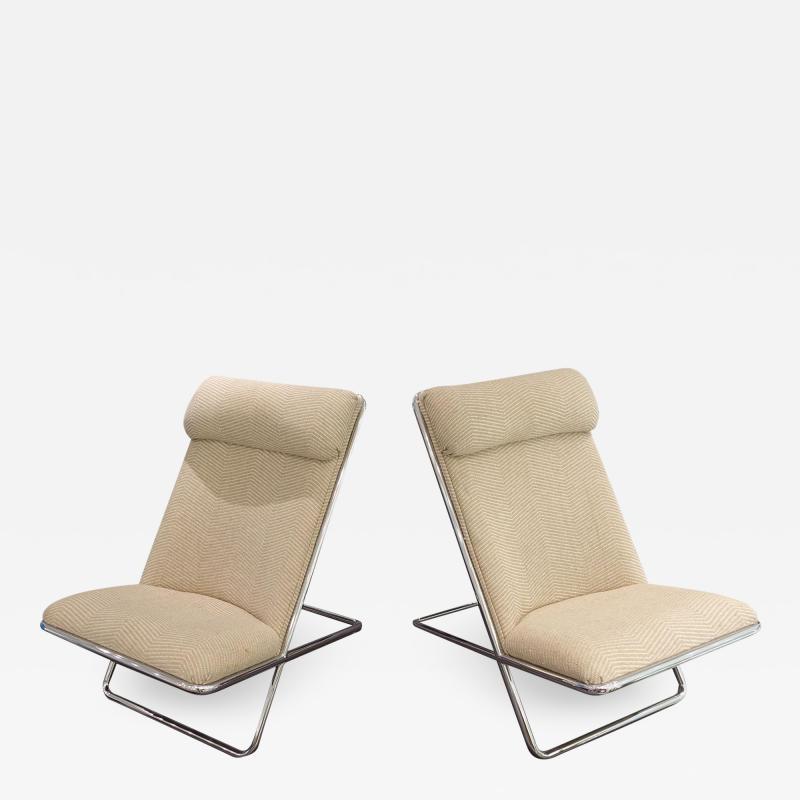 Ward Bennett Ward Bennett Scissor Chairs