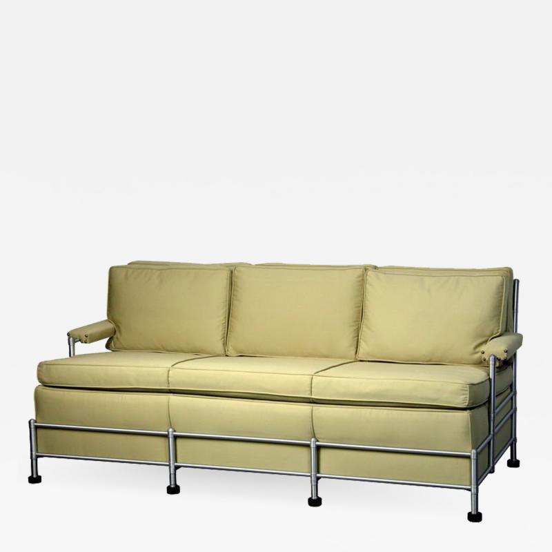 Warren McArthur Rare Slat Back Three Seat Warren McArthur Park Avenue Sofa 1933 1934