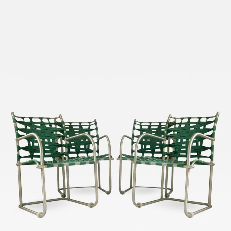 Warren McArthur Set of Four Warren McArthur Webbed Lounge Chairs circa 1938