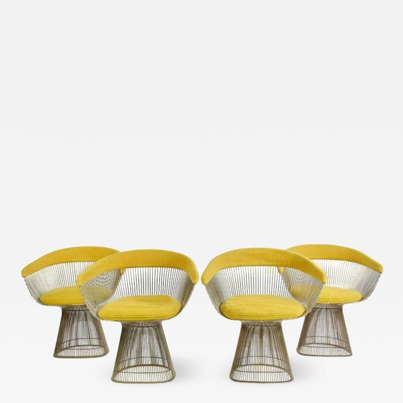 Warren Platner 1960s Vintage Warren Platner Dining Chairs Set of 4