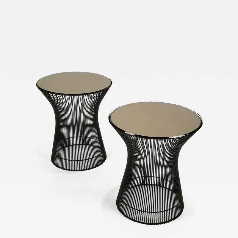 Warren Platner Early Pair of Bronze Side Tables Designed by Warren Platner for Knoll 1966