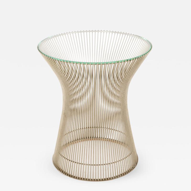 Warren Platner Nickel Side Table by Warren Platner for Knoll