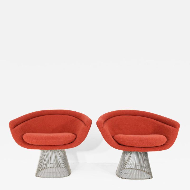 Warren Platner Pair of 1960s Nickel Plated Warren Platner Lounge Chairs