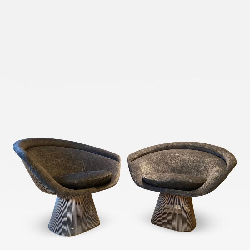 Warren Platner Pair of Lounge Chairs for Knoll