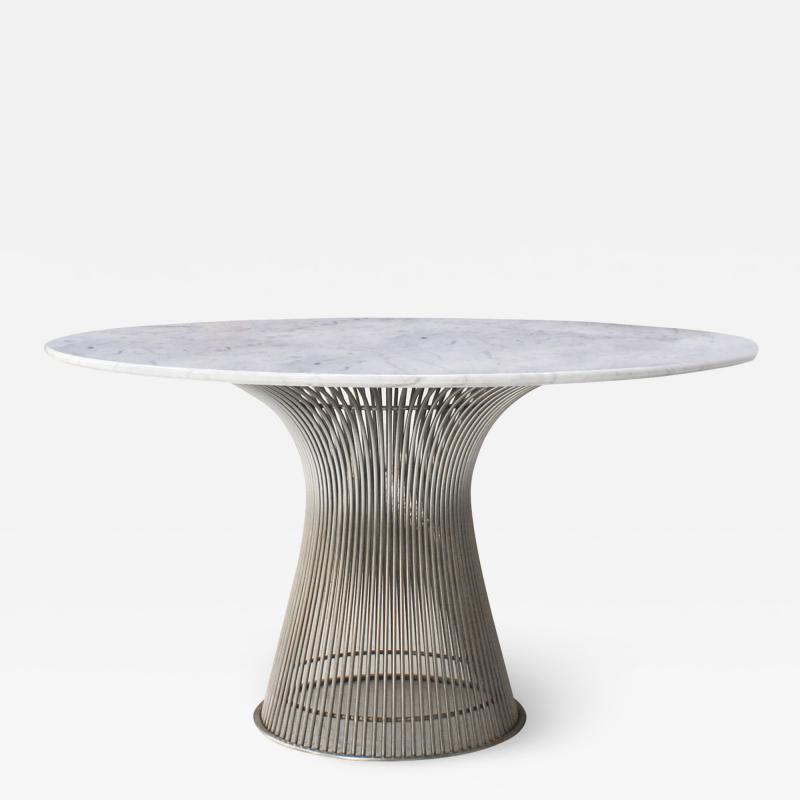 Warren Platner Warren Platner Edited By Knoll Carrara Marble Steel Table USA 70s