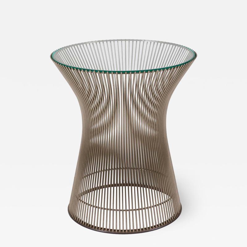 Warren Platner Warren Platner Glass and Chrome Side Table for Knoll