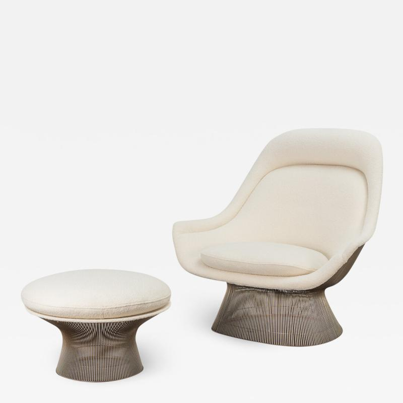 Warren Platner Warren Platner Lounge Chair and Ottoman