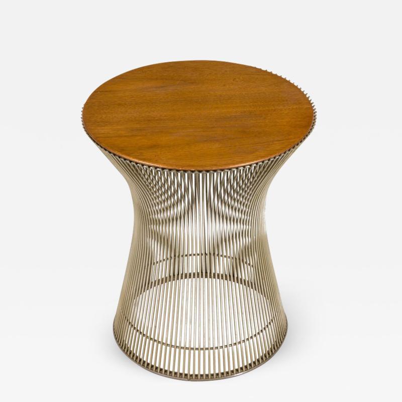 Warren Platner Warren Platner Walnut and Chrome Side Table for Knoll