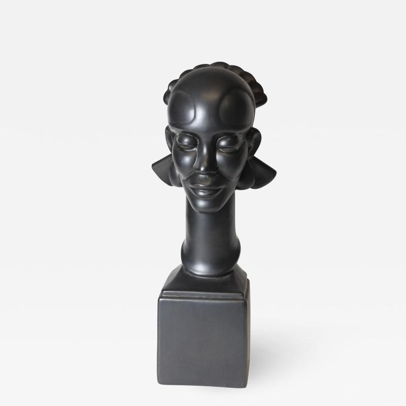 Waylande Gregory Congo Head sculpture designed by Wayland Gregory made by Cowan Pottery Studio