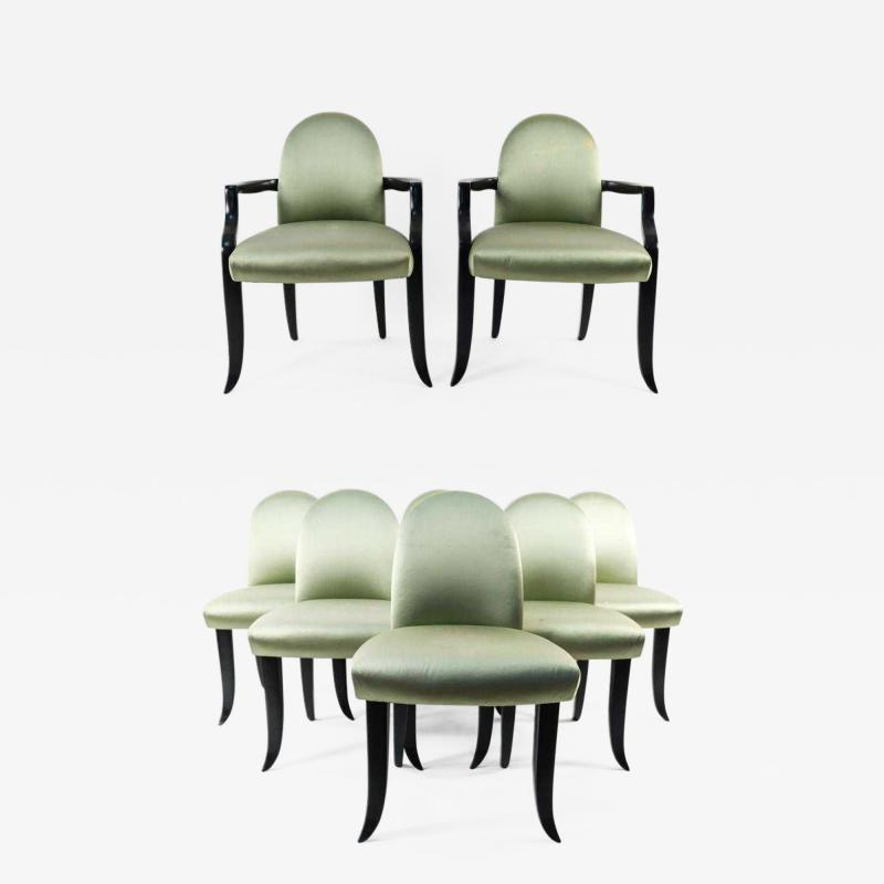 Wendell Castle A Set of Eight Dining Chairs by Wendell Castle