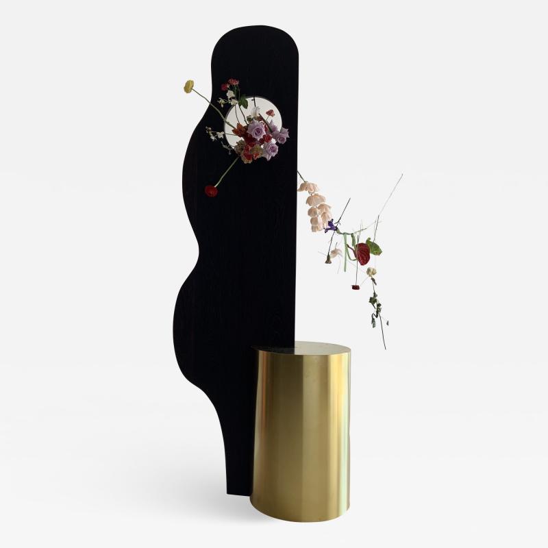Wenge Brass Sculpture