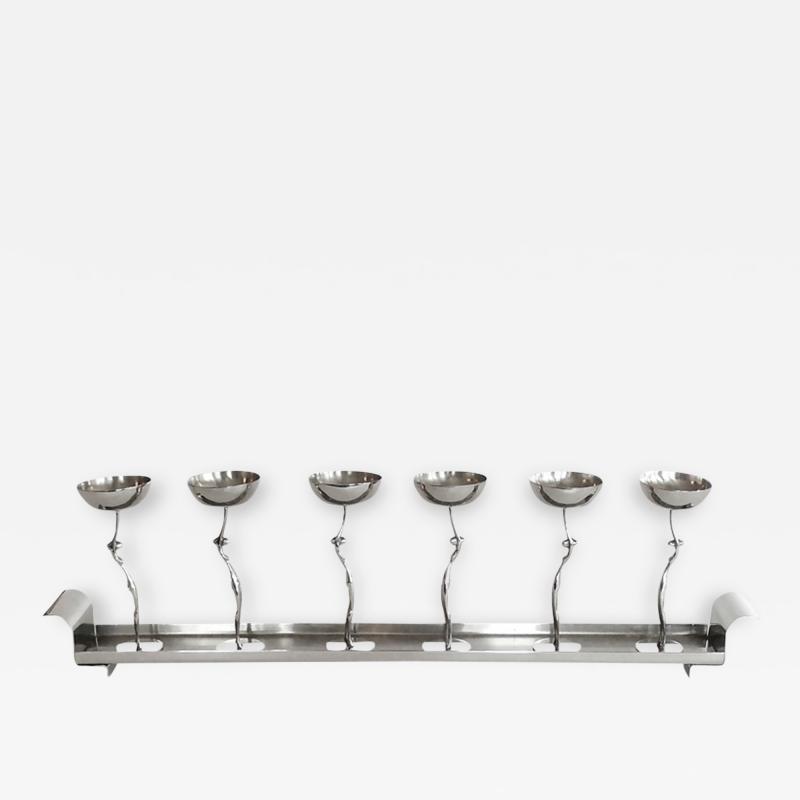 Werkst tte Hagenauer Figural Art Deco Cordial Cups Tray by Hagenauer