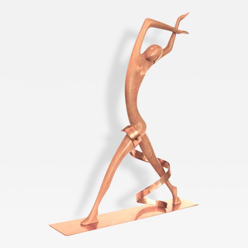 Werkst tte Hagenauer Impressive Hagenauer Walnut Copper Josephine Baker Sculpture