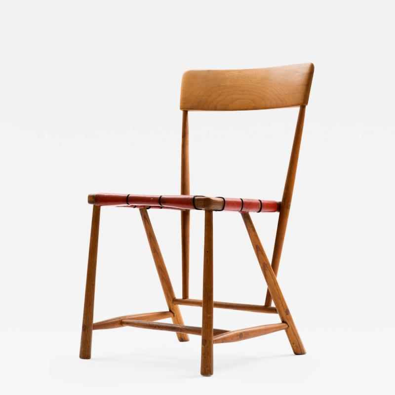 Wharton Esherick Wharton Esherick Ash Chair Signed and Dated 1952