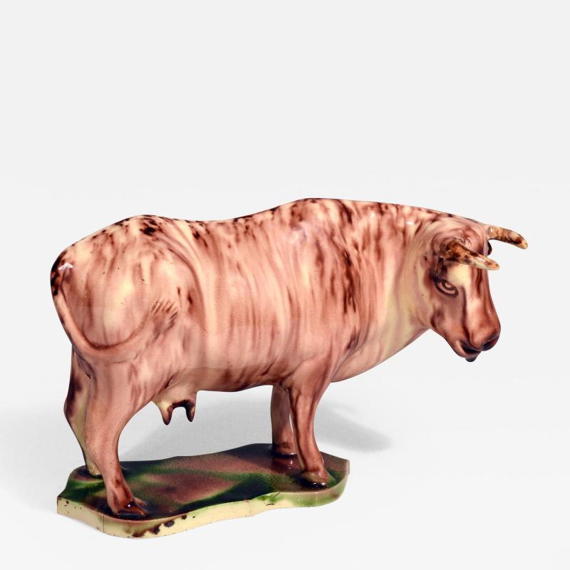 Whieldon type Rare Lead glaze Creamware Model of a Cow