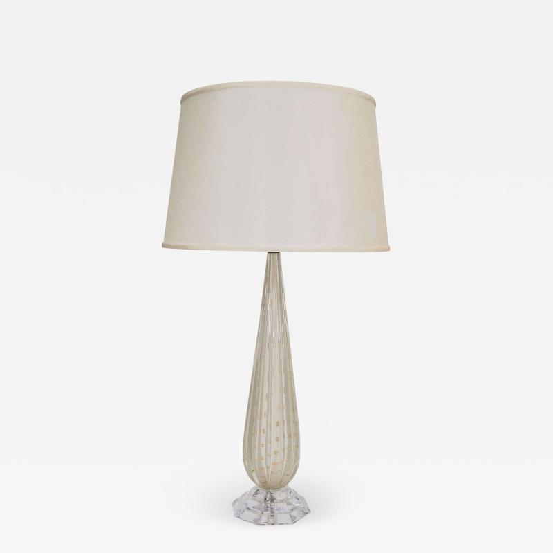 White Murano Glass Lamp