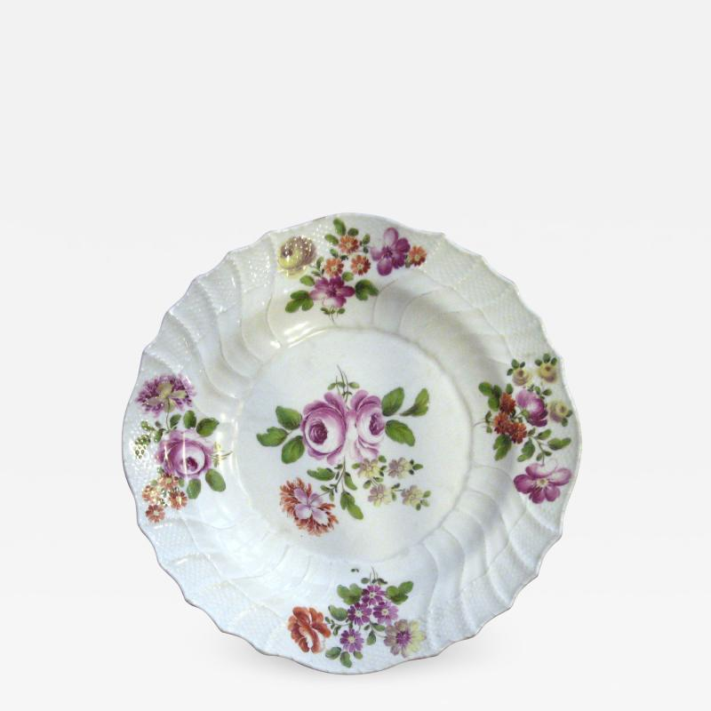 White plate with Center Rose
