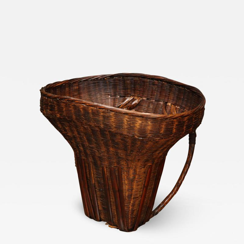 Wicker Gathering Basket