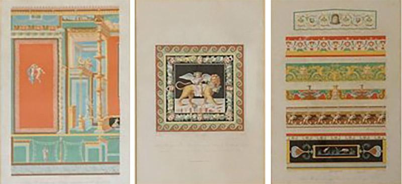 Wilhelm Johann Karl Zahn Classical Chromolithographs by Wilhelm Johann Karl Zahn Set of Three
