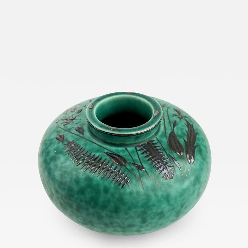 Wilhelm K ge Gustavsberg Argenta Squat Vase