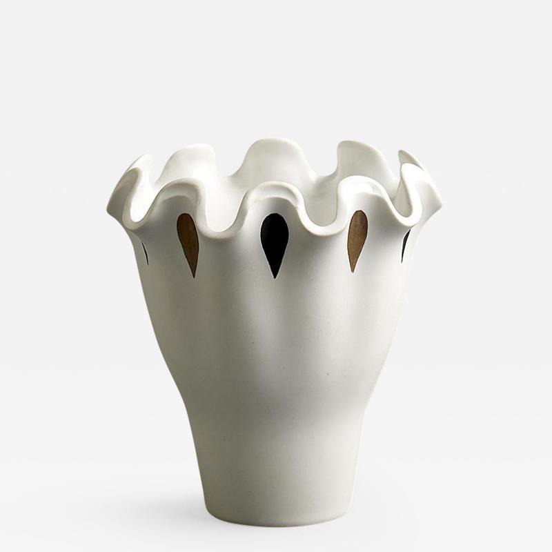 Wilhelm K ge Wilhem Kage for Gustavsberg Stoneware Vase from the Vaga Series