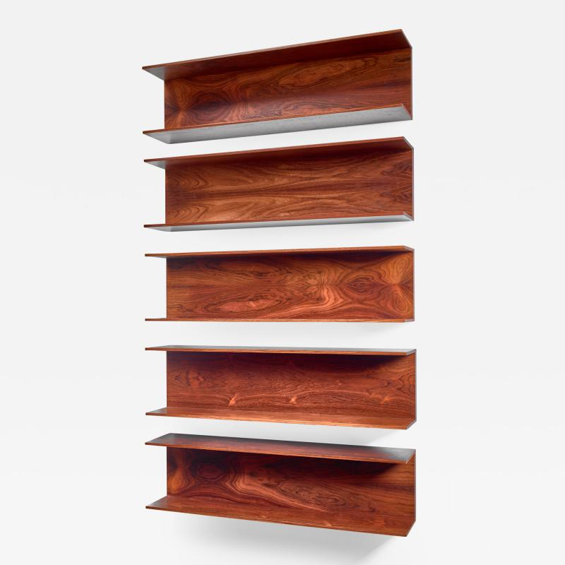 Wilhelm Renz Set of 5 from 6 Wilhelm Renz Wooden Open Wall Shelves