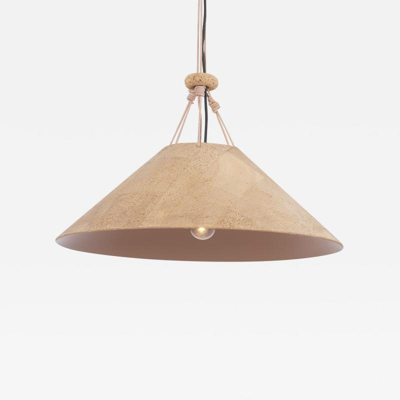 Wilhelm Zannoth Pendant Lamp Zanotl in Cork by Wilhelm Zannoth for Ingo Maurer